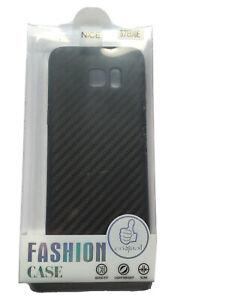 Carbon Fibre TPU Back Gel Case Samsung Galaxy S7 Edge Black Shockproof Cover