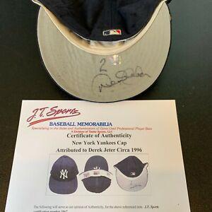 Derek Jeter 1996 Rookie Signed Game Used New York Yankees Hat PSA & Beckett COA