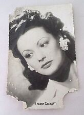 WWII Photograph Postcard - Movie Star Louise Carletti - GI Soldier Pinup Picture