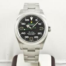 Rolex Airking 40mm 116900 Black Arabic Face With Rolex Box & Booklets 2017 Model