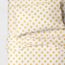 Pillowfort Gigabyte Grins Microfiber Sheet Set Full Size Emoji Faces