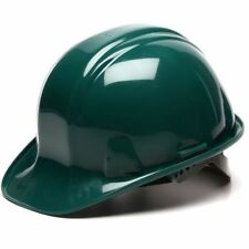 Pyramex Hunter Green Hard Hat 6 Point Snap Lock Suspension 21241