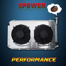For Nissan Patrol GQ Y60 4.2 Petrol TB42 Alloy Radiator + 120W Fan Shroud 3 ROW