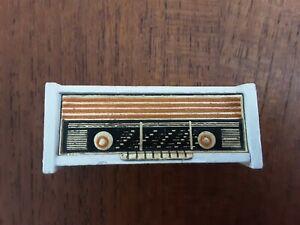 Vintage Lundby Dollhouse Miniature Furniture 1:16 Radio White 5492