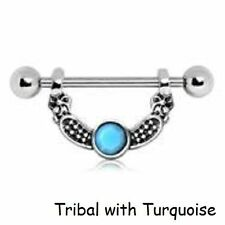 Turquoise 14g (1.6 mm) Bar/Barbell Body Piercing Jewellery