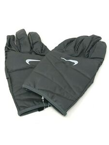 Nike Men's Quilted Run Gloves Iron Grey / Silver ~ Large