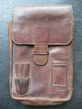 WW2 Original Officers Japanese brown leather Map Case 1940-1945 Asian-Pacific