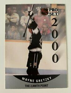 NHL WAYNE GRETZKY 1990 Pro Set The 2,000th Point Hockey Trading CARD #703