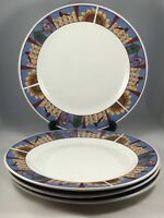 "4 Majesticware by Sakura Leslie Beck 1999 Picket Fences 10 5/8"" Dinner Plates"