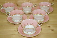 "Aynsley Sheraton Rose (6) Cups, 2 1/8"" & (6) Saucers, 5 5/8"""