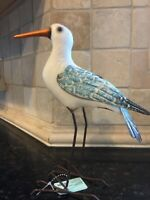 Seagull Metal Art Sculpture Nautical Home Accent Beautiful any where you Display