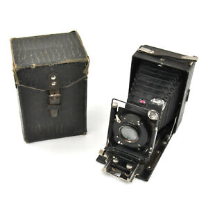 RARE GOMZ Fotokor-1 9x12cm Compact Large Format Camera w/ Case! AS IS!