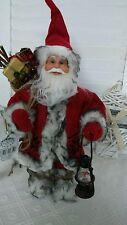 NEU Weihnachtsmann Santaclaus Nikolaus Laterne Geschenkesack Shabby Landhaus