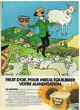 Publicité Advertising 1983 La Margarine Fruit d'Or...le mouton