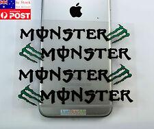 Monster Green Black White Vinyl Car Truck Door Handle Protector Sticker Decal