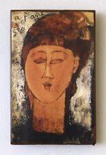 Amedeo Modigliani - Louise - Unikat auf über 100 Jahre altem Ziegel 8 Italien