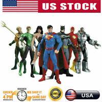 7Pcs/Set DC Comic Justice League Superman Wonder Woman Batman Action Figure Toy