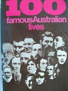 100 FAMOUS AUSTRALIAN FACES BY VARIES AUTHORS, 1969 1ST. EDITION