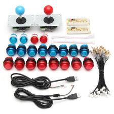 DIY KIT 20 LED ARCADE PUSH PULSANTI +2 JOYSTICK + 2 USB ENCODER GIOCO MAME JAMMA