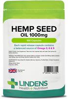Lindens Hempseed Oil 1000mg - 100 Capsules