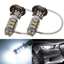2pcs Pure White H3 3528 SMD 28 LED Fog Headlight Car Signal Light Bulb Lamp HS
