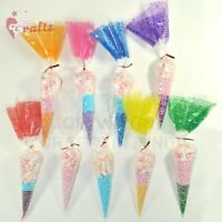 50 x Large Cello Cone Sweet Treat Display Favor Gift Party Bags | Clear | Colour