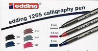 Edding 1255 Calligraphy Pen Italic Pens Fine, Medium, Broad Tip – Singles