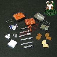 Custom 1/6 Armoury Ration_ Mess Kit Set _food military  CS048A