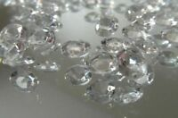 Clear Scatter Crystals 6.5mm Wedding Table Decoration Acrylic Confetti Gems