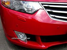2 Pcs Chrome Front Foglight Cover Reflector Trim for Honda Accord Euro 2008-2015