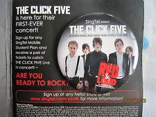 The Click Five Pin Badge 1pcs