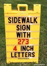 """NEW YELLOW SIDEWALK SIGN A-FRAME SANDWICH SIGNICADE BOARD 45"""" x 25"""" PLASTICADE"""