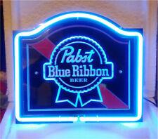 "Pabst Blue Ribbon 3D Carved Neon Sign Beer Bar Gift 14""x10"" Light Lamp Artwork"