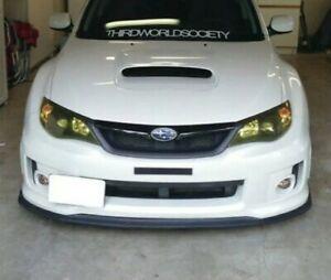For Subaru Impreza STi Models 2011+ Front Bumper Splitter Spoiler Lip Plastic CS