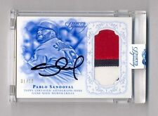PABLO SANDOVAL 2015 TOPPS DYNASTY 3 COLOR PATCH AUTO AUTOGRAPH #1/10 RED SOX