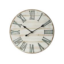 Mobili Rebecca® Horloge Murale Bois Metal Design Vintage Ø 60 cm
