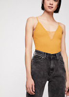 NEW Free People Intimately Come Around Cami Tank Top Marigold Sz XS/S-M/L $51.68