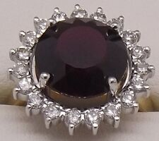 18CT YELLOW & WHITE GOLD NATURAL DIAMOND & TOURMALINE DRESS RING - VALUED $6395