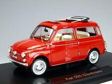 NOREV 1960 FIAT 500 GIARDINIERA RED 1/18 DIECAST MODEL CAR 187722