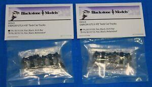 """Lot of 2 - BLACKSTONE MODELS HOn3 - B370109 D&RGW - UTLX - 4' 8"""" Tank Car Trucks"""