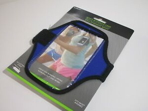 Blue Arm Band Cellphone Holder SPORT Case Running, Hiking, Work Our & More