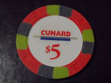 New ListingCunard Casino $5 hotel casino gaming poker chip ~ Cruise Ship