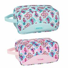 Moos Pink Turquoise Flamingo Weekend Toiletry Travel Holiday Ladies Wash Bag