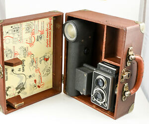 SEM: Semflash 1958-1959 120 film  dans sa valise d'origine objectif Berthiot 75