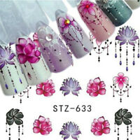 5Sheets Charm 3D Nail Art DIY Transfer Sticker Flower Decals Manicure Decor Tips