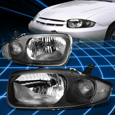 Black Housing Clear Turning Signal Headlight for 2003-2005 Chevy Cavalier Gen3