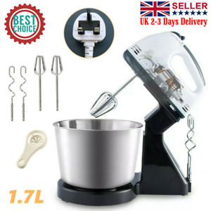 NEW 7 Speed Electric Food Stand Hand Mixer Bowl Cake Dough Hook Whisk Beater UK