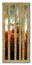 Abstrakte Malerei ORIGINAL Metall Struktur Gemälde HANDGEMALT Acryl KUNST modern