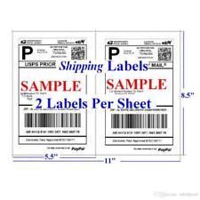 "Shipping Labels 50 Self Adhesive 2/sheet 8.5"" x 5.5"" USPS/PayPal/eBay Postage"