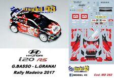 DECAL  1/43 -  HYUNDAI i20  R5  - BASSO  - Rally  MADEIRA  2017